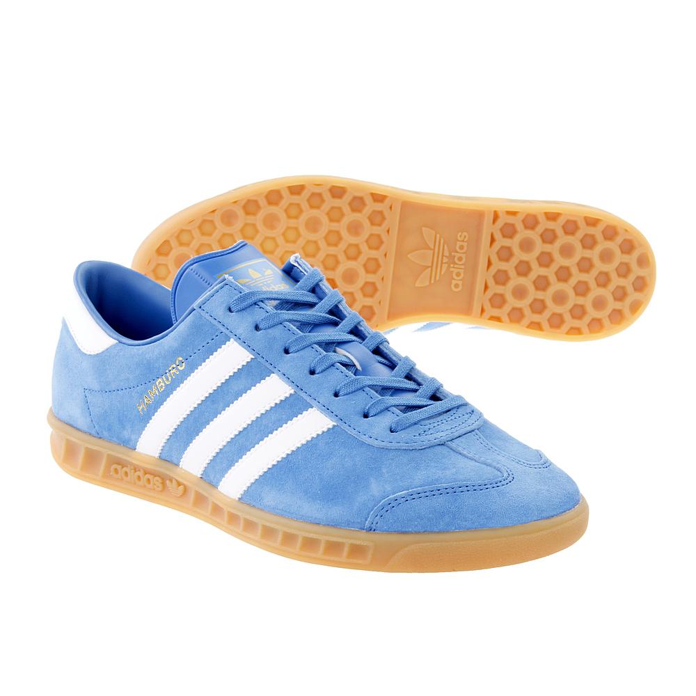 buty adidas hamburg niebieskie